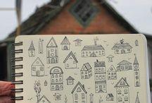 Illustrations: houses