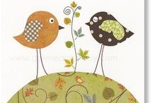 Les OISEAUX et les CABANES, parce qu'ils ont deux ailes comme moi  ;) / Michelle avec deux ailes, adore les oiseaux ET les cabanes.