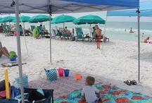 playa con bebe