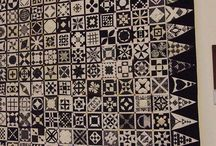 solid fabric quilt ideas / by Rebecca Biddle