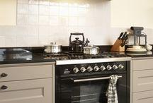 Klassieke schouw in keuken