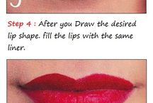 Using A Lip Pencil