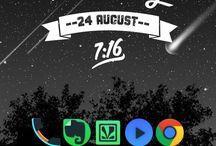 My HOMESCREEN SETUPS / Screenshots of Homescreen Android setups