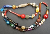 my works - beads / handmade jewelry of felt & various beads, I hunted & found in different places. my works