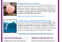 Newsletter hebdomadaire / Chaque semaine, la Newsletter de Cancer Contribution... / by Cancercontribution France