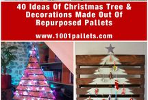 Xmas trees from wooden pallets,