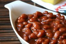 Slow cooker baked beans etc.
