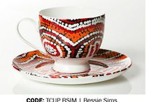 Aboriginal design Tea Cup & Saucer / Aboriginal design Tea Cup & Saucer