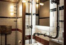 Industrial bathroom designs