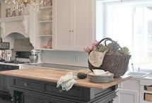 Vintage  and French Country Kitchens