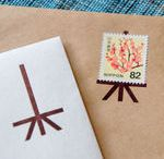 letter & postage stamp