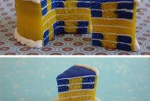 sweden flag cake
