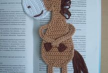 crochet book marks