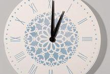 Relojes artesanales / Relojes de DM, madera y otros materiales decorados con plantillas, decoupage, pintura, etc.