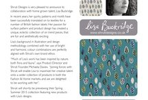 Lisa Buckridge joins the Shruti design team! / We are really excited to announce Lisa Buckridge has joined our team!  We will be working with her to create a unique collection of products under her own label. Available exclusively from Shruti Designs. The products will be launching from Spring 2015 onwards….with previews being planned in Sept 2014.  More details to follow!   Michaela