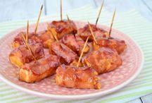 Bacon met kipfile / Borrelhapje