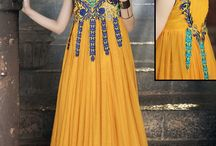 Fashion for Fashionable Gown / Buy Enticing Wedding & Party Wear Floor Touch Unique Embroidered Gown available on http://www.fashionfiza.com/