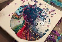 Canvas work