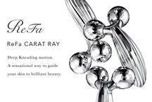 ReFa CARAT RAY / ReFa CARAT RAY Deep Kneading motion. A sensational way to guide your skin to brilliant beauty.