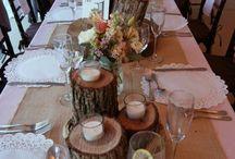Rustikale Tische