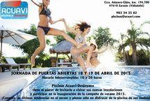 Instalaciones Piscinas Acuavi / Nuevas instalaciones en Valladolid con las últimas novedades en el sector de las piscinas y chimeneas.