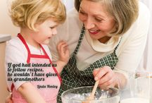 """Quote of the month: """"if god intended us to follow recipes he wouldn't have given us grandmothers"""" / by Lina Henley. Quote of the month may 2015 by Beka Cookware."""