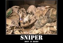 Sniper covered by nature.