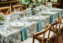 Table setups and centerpieces