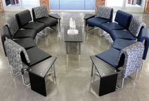 Modern Guest Waiting Areas / This board highlights super stylish guest waiting areas and modern furniture sure to inspire any office makeover project.