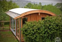 Funky small spaces / ideas for cabins, garden rooms and making the most of a small space