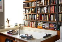 book nooks + shelves / lovely images of bookshelves and places to read.