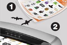 Halloween Laminating Fun / Spooky laminating ideas for Halloween. Make your holiday fun and bright with these festive laminating templates.