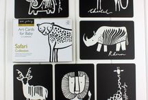 Black White Baby Cards