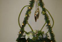 Kerstbloemstukken