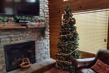 Christmas Cabin Getaway / Enjoy Christmas decorations from the Sacred Winds Cabin Rental at Yatesville Lake State Park in Eastern KY.  Each year we decorate our cabin getaway retreat for our guests. http://www.YatesvilleLakeCabinRental.com