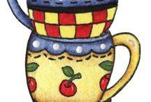 Xícaras de chá