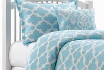 Light Blue Dorm / American Made Dorm & Home has many light blue Twin XL Dorm Comforters to choose from. The Tiffany Blue Chevron and Sky Blue Quatrefoil are two of our most popular sets! Add an accent pillow, euro sham and a headboard and you're on your way! / by American Made Dorm & Home