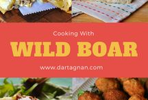 Wild Boar Recipes / Cooking wild boar is easier than you think. Our wild boar recipes make the most of this healthful , tasty meat. Eat like our primal ancestors with this truly wild boar. Great for paleo or primal diets, wild boar meat is similar to pork, only darker, redder and more intensely flavored. Wild boar meat is also lean, as most game meat is, and lends a unique flavor to your favorite recipes.