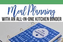 Meal Planning & Kitchen Management / Meal planning printables, meal planning resources, weekly menu, grocery lists.  Food storage, tips, organized kitchen, clean kitchen.
