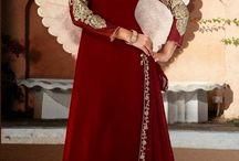 Anarkali Churidar Suits - evis-3352 / Latest Anarkali Churidar Suit with heavy zari embroidery