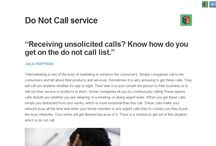 Do Not Call service