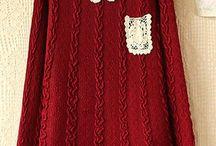 вязание с тканью