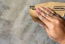 Parede cimento queimado