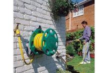 Flexible,Deluxe, Garden water Hose Wall Mounted Cmpct Reel.