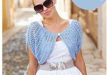Crocheted/knited shrugs