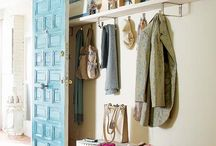 Entryway/Laundry/Mudroom/Pantry Ideas / Inspiration to conquer my nemesis: a 13x5 foot room that serves as my mudroom, laundry room, pantry and kitchen storage.