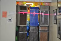 Senior Prank Day - Class of 2014 / Pictures of obstacles put up by seniors on color day