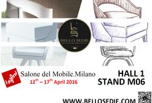 "Milan 2016 / A breath of fresh air for Bello Sedie! Salone del Mobile.Milano – ""If you are not there, you should be"". We are located in the HALL 1 – STAND M 06. We are waiting for you!"