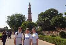 #VolSol Volunteers on Delhi Tour / Karlien, Marie and Yasmin getting a peek into the vibrant and glorious history of Delhi during the language and orientation week. Check out their pictures at the various historical sites and the gala time that they had while volunteering in Delhi, #India  http://www.volunteeringsolutions.com/volunteer-abroad/volunteer-in-india-delhi#language-orientation-india / by Volunteering Solutions
