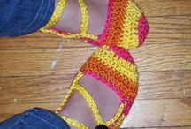 Slippers and scarf